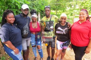Some members of the organizing team, including President of the August Town Youth Club Marlon McFarlane (fourth from the left)